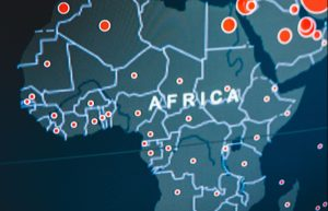 Digital map of Africa continent